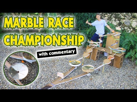 Cardboard Marble Race Track | Marble Run Tournament with Commentary - DIY Marble Track