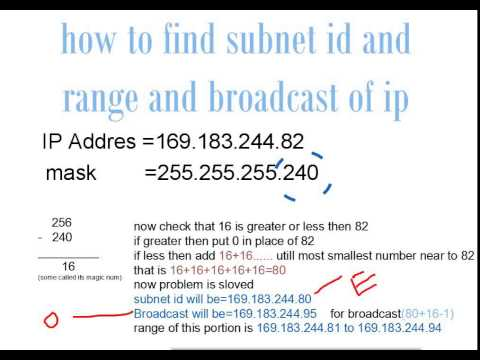 how to calculate tcp/ip IPV4 subnet mask and range