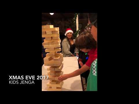 Kids JENGA Xmas fun 2017