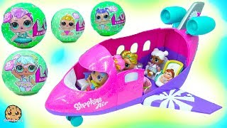 LOL Surprise Big Lil Sisters Blind Bag Balls Airplane Vacation with Rainbow Kate