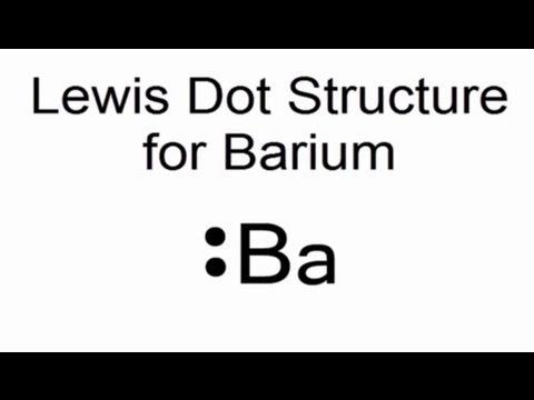 Lewis Dot Structure for Barium (Ba)