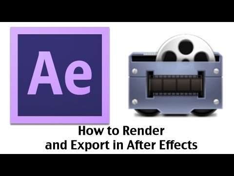 Adobe After Effects CS6 - How To Render and Export Your Video