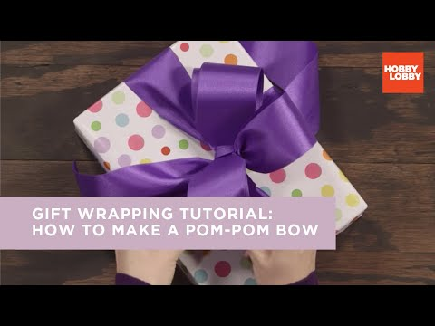 Gift Wrapping: How to Make a Pom-Pom Bow