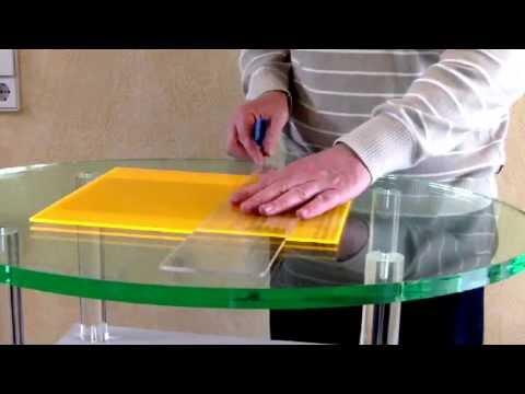 How to score and break acrylic * Acrylglas ritzen und brechen