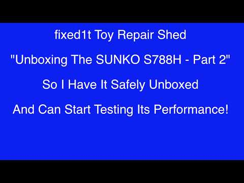 SUNKO S788H Battery Spot Welder In A House Testing Part 1