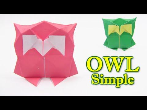 Origami Simple OWL by Yann Mouget - Origami easy tutorial