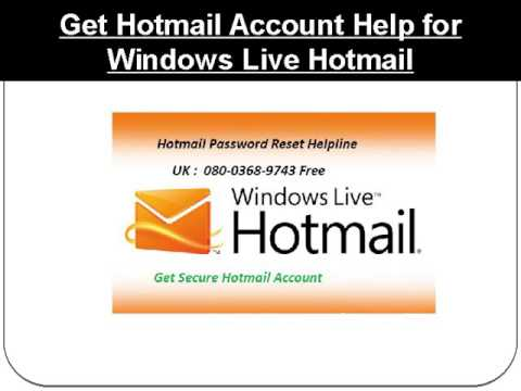 Recover Password With Hotmail Password Reset Helpline : 0800-368-9743 Free