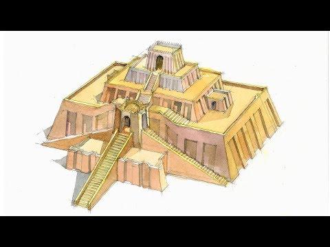 Monuments in Watercolor Ep # 01 Great Ziggurat At Ur