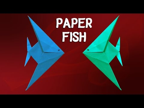 How To Make an Origami Paper Fish - Easy Tutorial
