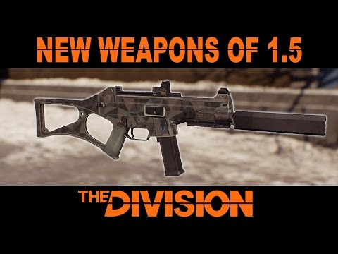New Weapons of The Division Patch 1.5 (PTS)