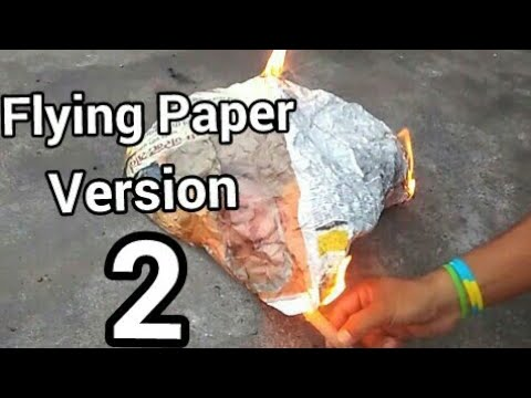 HOW TO MAKE A FLYING PAPER FIRE VERSION 2