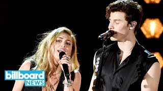 Shawn Mendes & Miley Cyrus Team Up for 'In My Blood' at 2019 Grammys | Billboard News