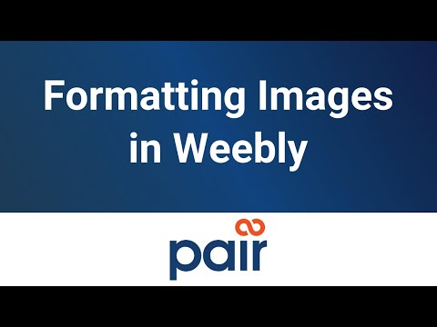 Formatting Images in Weebly