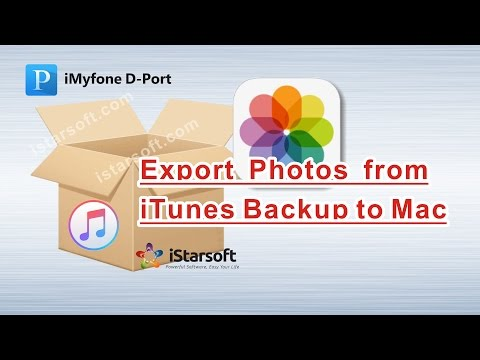 Export Photos from iTunes Backup to Mac