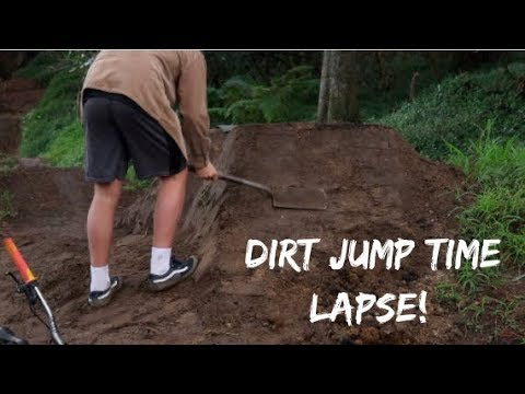 building dirt jumps time lapse (secret dirtjumps)