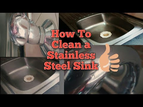 How To Clean Your Kitchen Sink / How to clean Stainless steel sink with baking soda and vinegar