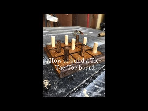 Tic-Tac-Toe game made from scrap wood