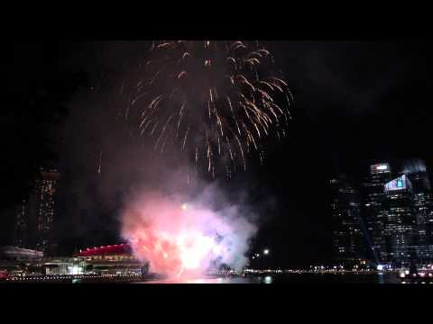 SG50 Fireworks at Marina Bay on 7 August