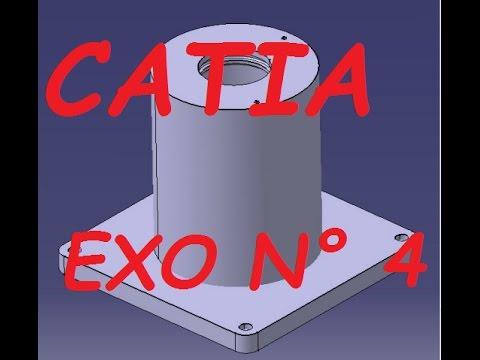 CATIA/ Part design exo 4 : Embase - learn CATIA