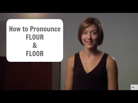 How to pronounce FLOUR (FLOWER) and FLOOR  - American English Pronunciation Lesson