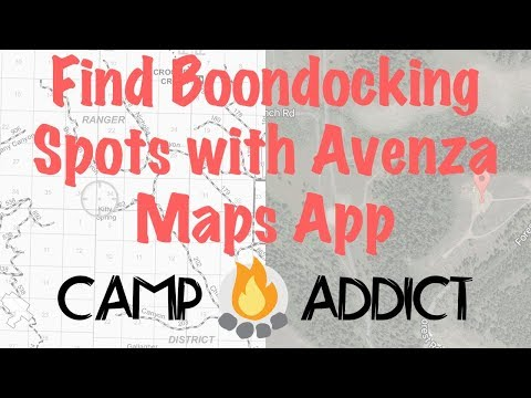 How to Find Boondocking Sites Using Avenza Maps App
