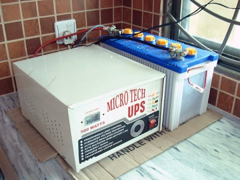 Inverter - UPS Battery Connection Explanation In Urdu & Hindi