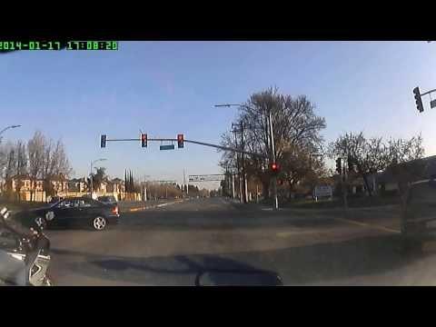 Red Light Violation in San Jose, CA