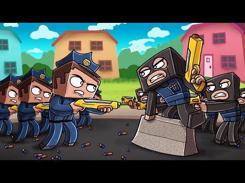 Minecraft Nerf War - COPS BREACH CRIMINAL FORT! (Nerf Police Challenge)