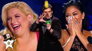 Judges CAN'T STOP Laughing At Funny Magician   Magicians Got Talent