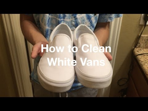 HOW TO CLEAN WHITE VANS/CONVERSE/ANY SHOE IN MINUTES (DO NOT NEED TO GO TO STORE GUARANTEED)