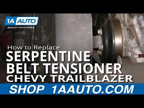 How To Install Replace Serpentine Belt Tensioner Trailblazer 4.2L 02-05 1AAuto.com