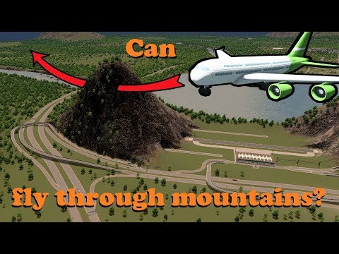 Can airplanes fly through mountains?!
