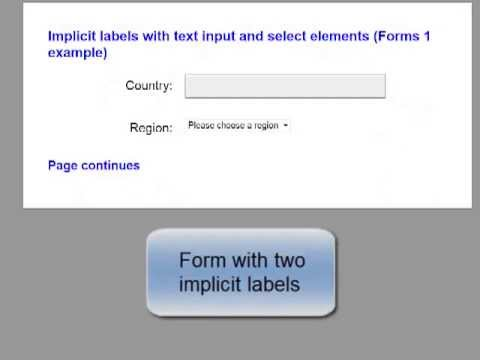 Form with implicit labels
