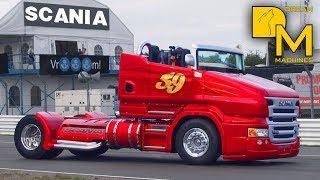 FAST & FURIOUS TRUCK SCANIA 1000HP FREAKING SOUND BURNOUT CUSTOM RACE TRUCK
