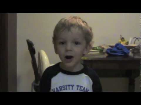 2 year old does dick vitale impersonation
