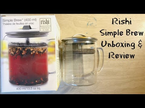 Rishi Simple Brew Loose Leaf Teapot (400 ml) - Unboxing / Review