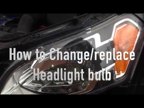 How to Change / Replace Headlight Bulb from Kia Soul 2010
