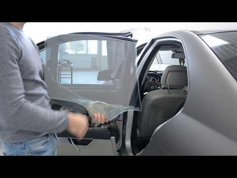 Mercedes W204 Removing Rear Door Window Glass