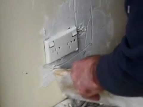 Plaster Repairs Around Power Point - Turn all power off in House first