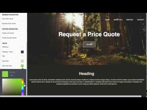 How to change a Responsive Website Background Color and Text Color in anaZana