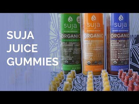 Healthy Snacks for Kids:  DIY Gummy Bears with Organic Suja Juice