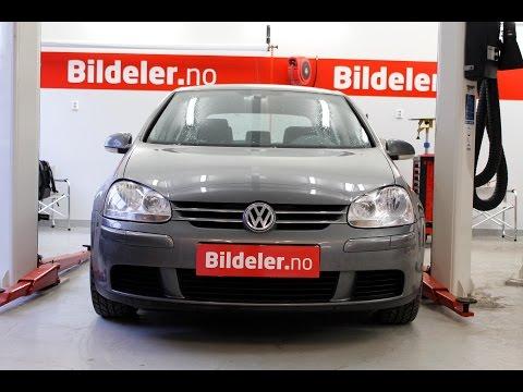 VW Golf V: Hvordan bytte ABS sensor foran - 2004 til 2009 mod. (1K)