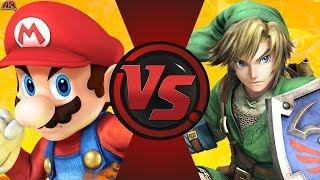MARIO vs LINK (Mario vs The Legend of Zelda) Cartoon Fight Club Episode 182