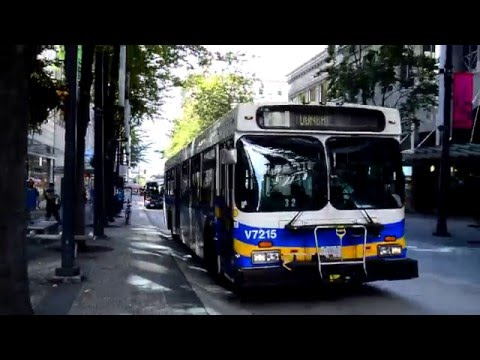 Vancouver TransLink : Downtown Vancouver Bus Action On The 2, 4, 7, 16, 50, 240, 250, 250A & 257