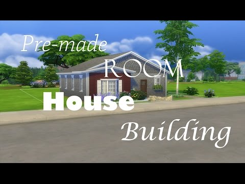 The Sims 4: Pre-made Room House Building Challenge