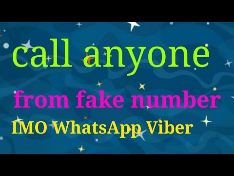 Make free call WhatsApp IMO Viber fake number