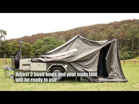 Mars Campers Hard Floor Camper Trailer Setup