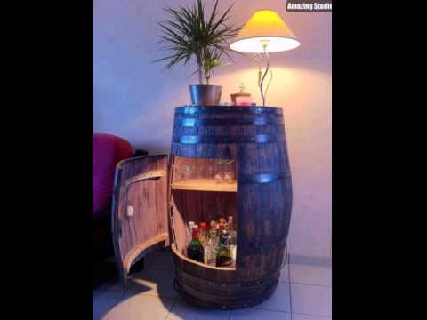 DIY Wine Barrel Cabinet