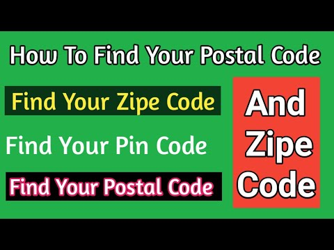 how to find my  postal code
