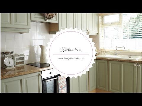 Kitchen tour and how I painted my kitchen cabinets using chalk paint